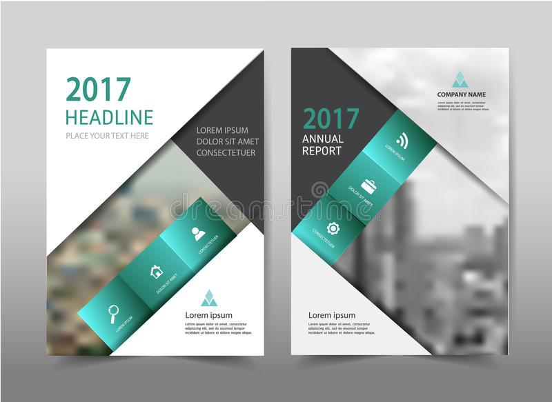 Vector green annual report leaflet Brochure Flyer template A4 royalty free illustration