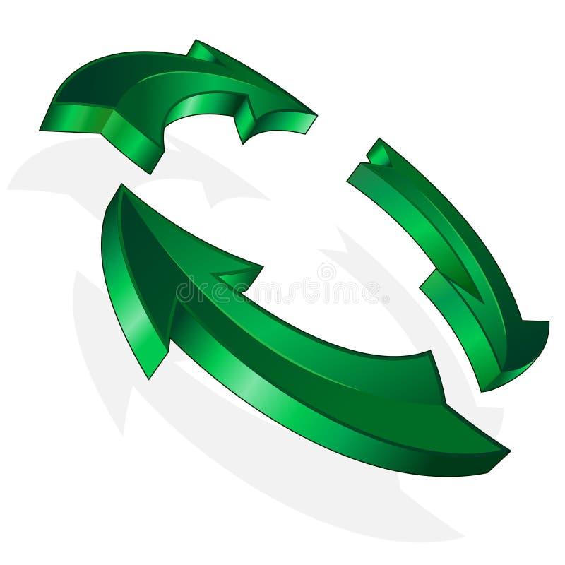 Download Vector green arrow stock vector. Image of luminous, recycling - 15021767