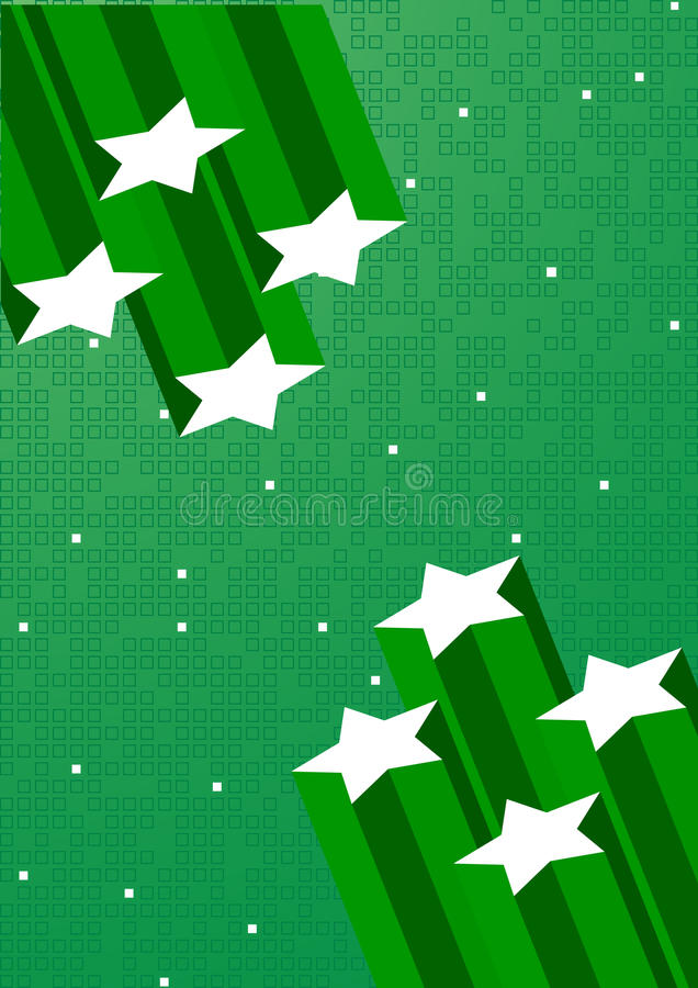 Download Vector Green Background With Star Stock Vector - Illustration: 9695241