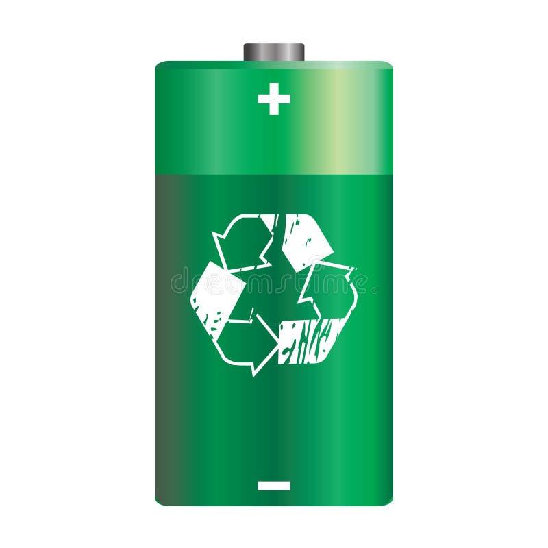 Vector green battery vector illustration