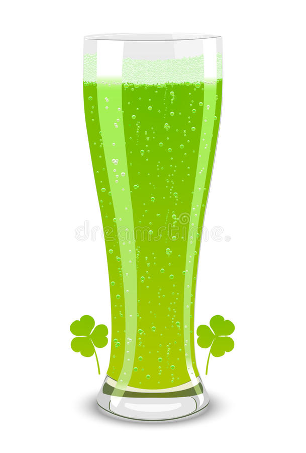 Free Vector Green Beer For St. Patricks Day Royalty Free Stock Photography - 18375807