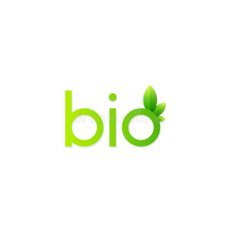 Free Vector Green Bio Icon Stock Images - 100141534