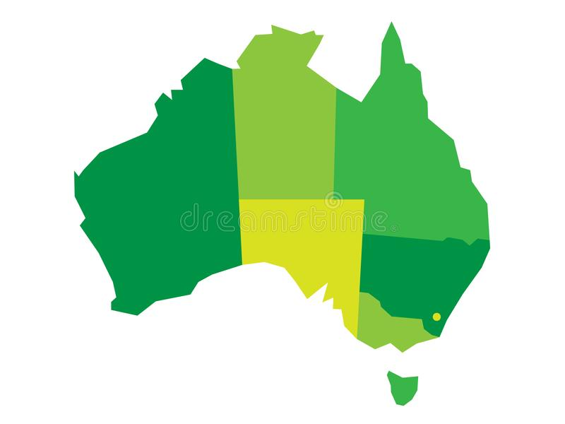 download vector green blank map of australia stock vector illustration of simple atlas