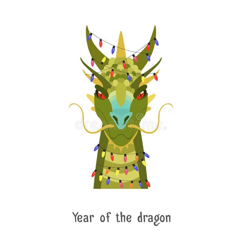 bellingrath garden oriental dragon christmas lights | Vector Green Chinese Dragon Head In New Year Lights Stock ...
