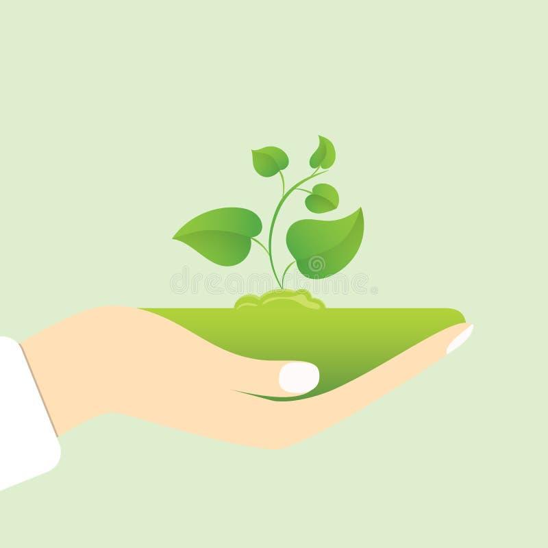 Vector green ecology sign vector illustration
