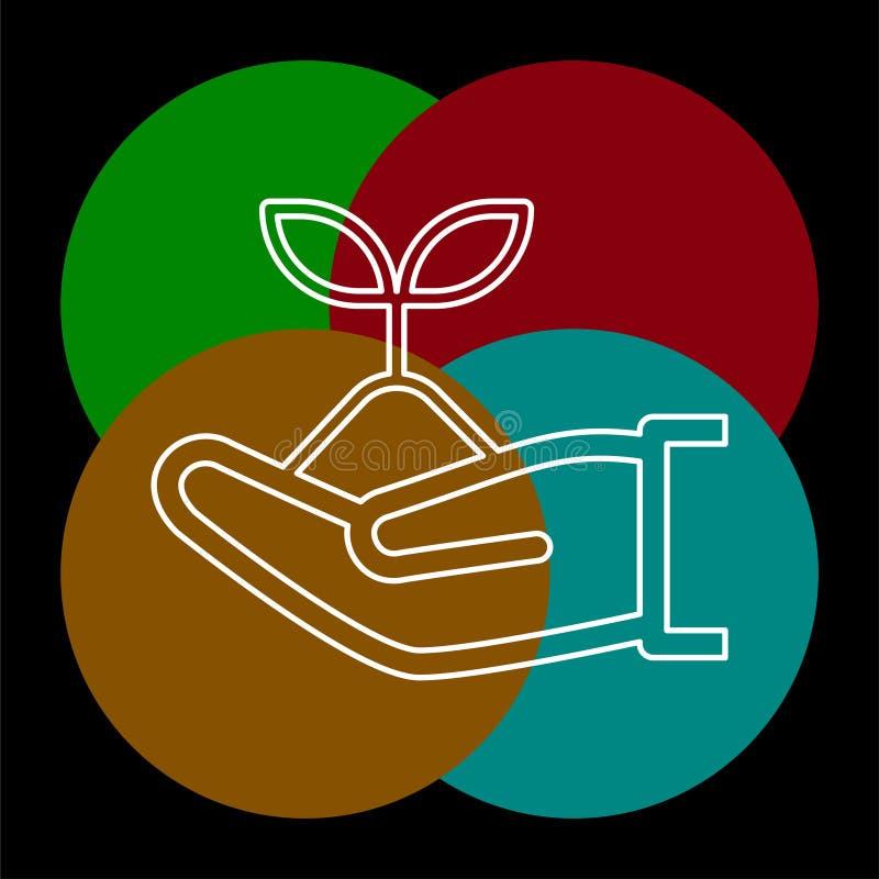 Vector green ecology sign, green environment vector illustration
