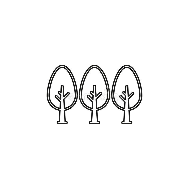 Vector green forest illustration - vector tree stock illustration