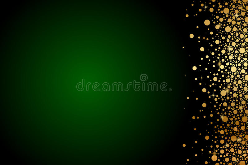 Green and gold luxury background stock illustration