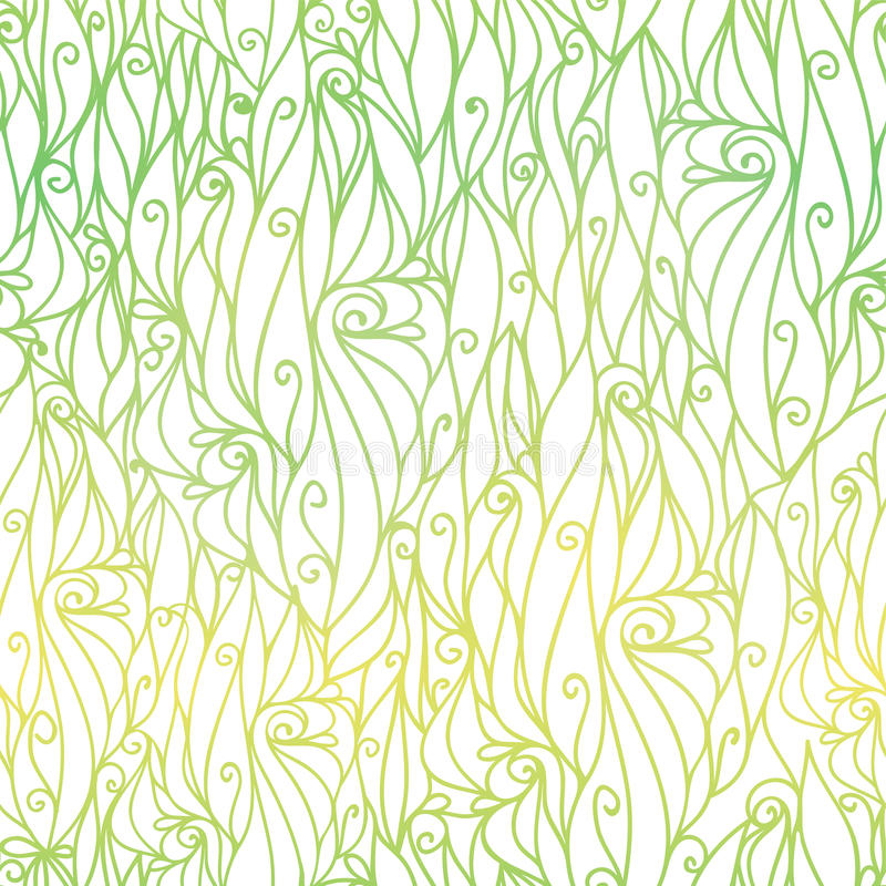 Vector Green Gradient Abstract Scrolls Swirls Seamless Pattern Background. Great for elegant texture fabric, cards. Wedding invitations, wallpaper. Surface royalty free illustration