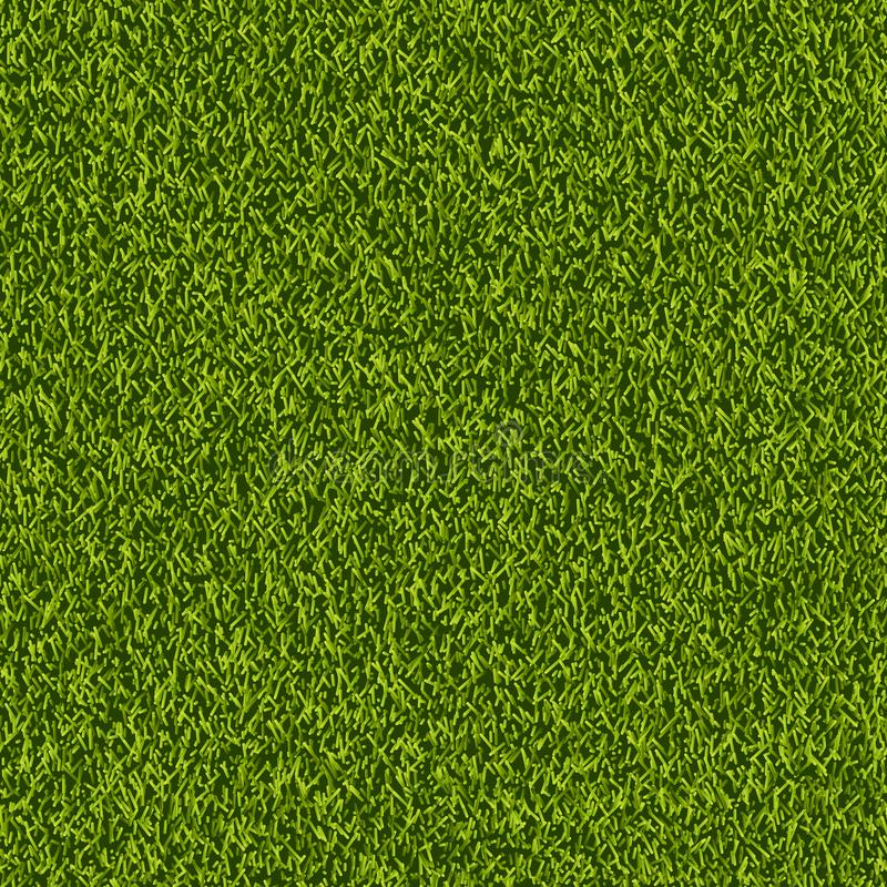 Vector green grass lawn seamless texture. Spring or summer nature background. Field or meadow realistic illustration. stock illustration