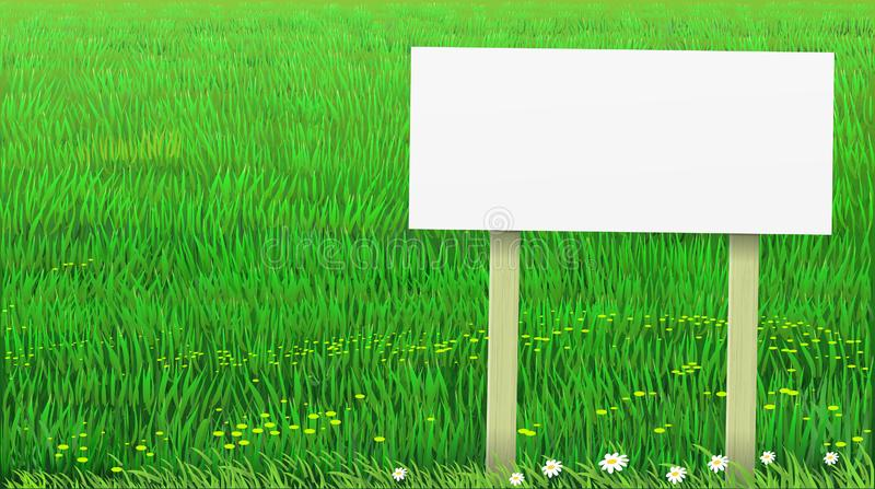 Vector green lawn grass banner vector illustration