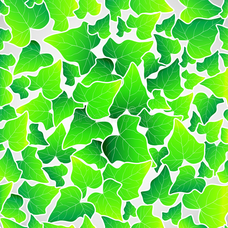 Vector green leaf seamless background