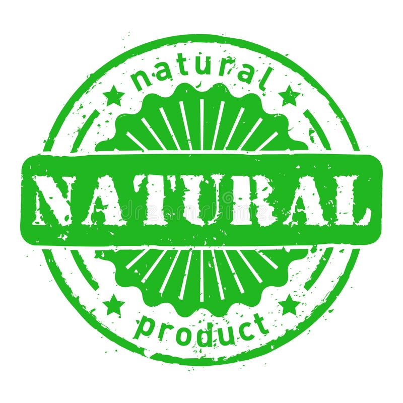 Vector natural product grunge rubber stamps isolated vector illustration