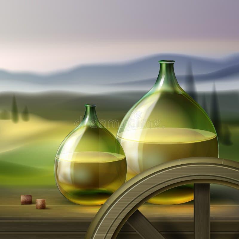 Download Vintage wine bottles stock vector. Image of color, glass - 99282589