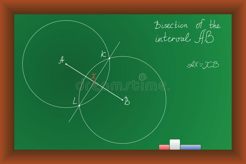 Vector green school Blackboard stock photo
