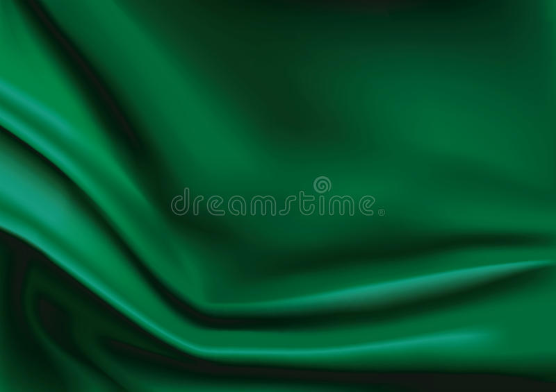 Vector of Green silk fabric background vector illustration
