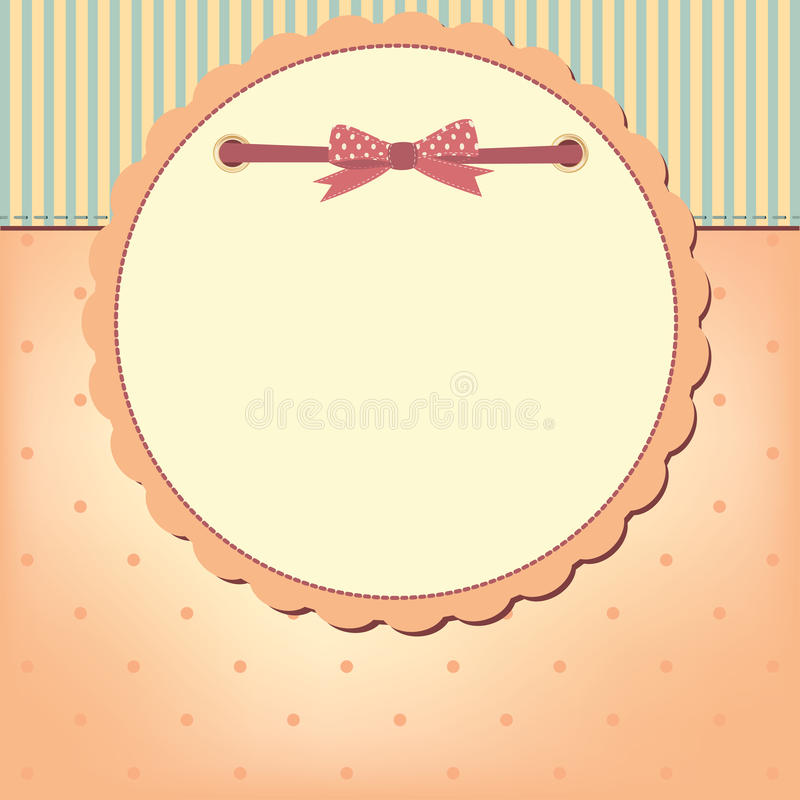 Vector greeting card with bow vector illustration