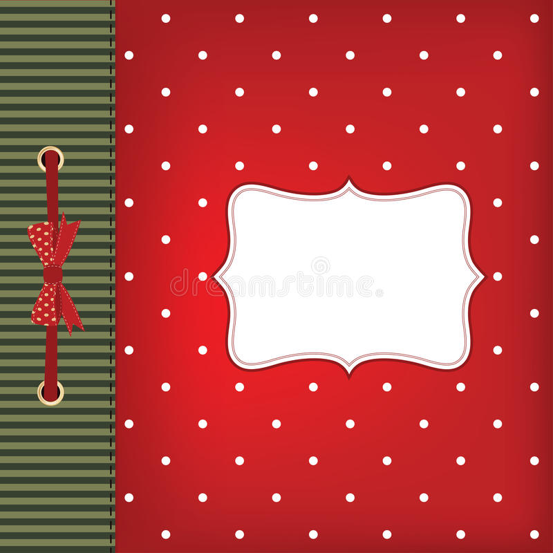 Vector greeting card with bow stock illustration