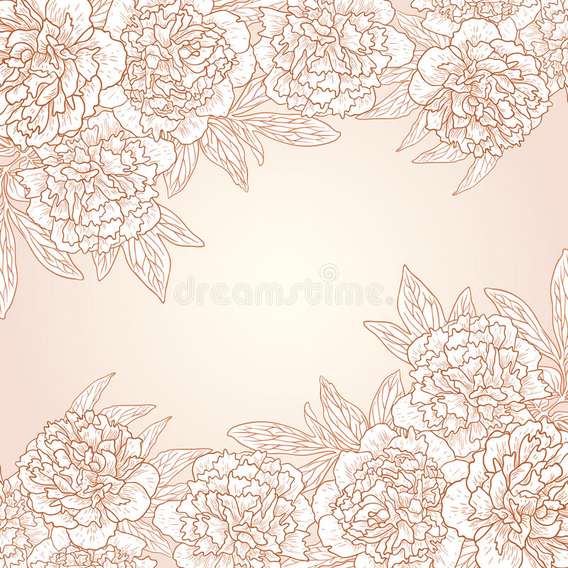 Download Vector Greeting Card With Peonies. Royalty Free Stock Photo - Image: 30492255