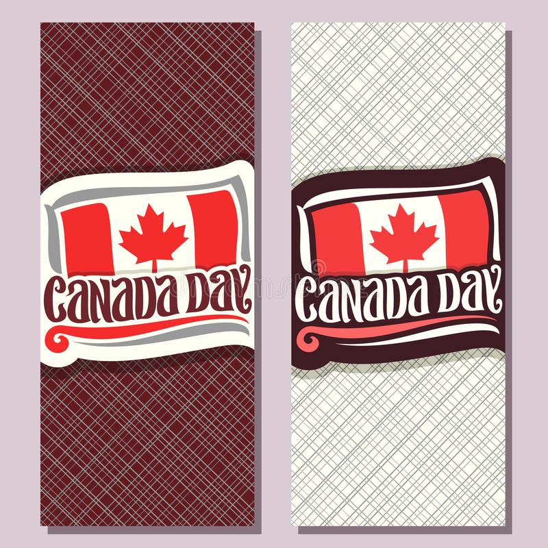 Vector greeting cards for Canada Day stock illustration
