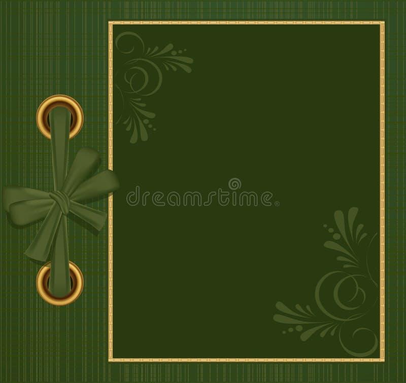Vector greeting green album for photos vector illustration