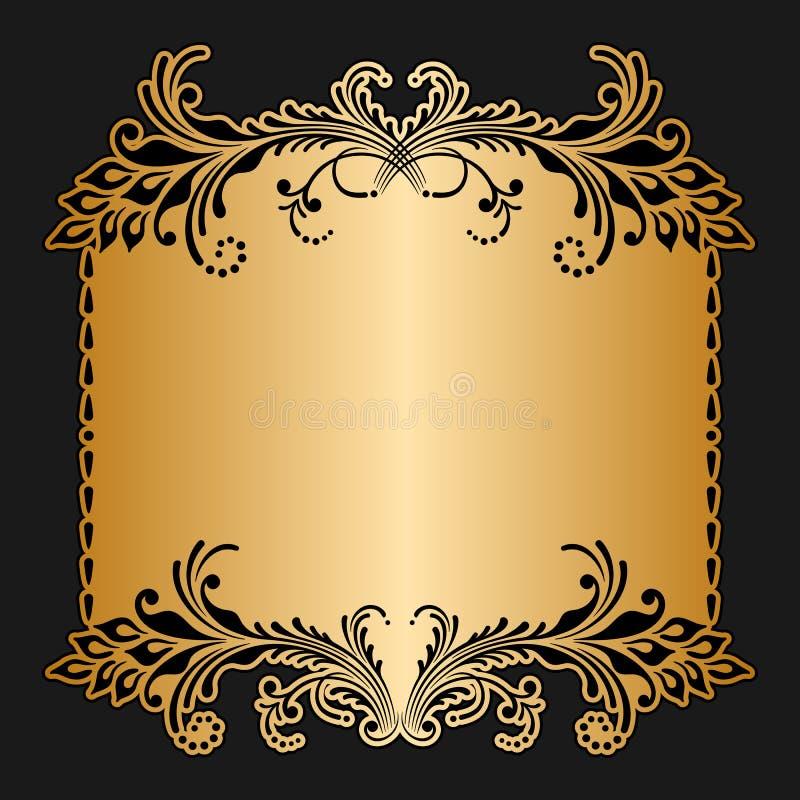 Vector greeting or invitation card. Vector greeting or invitation card with floral pattern stock illustration