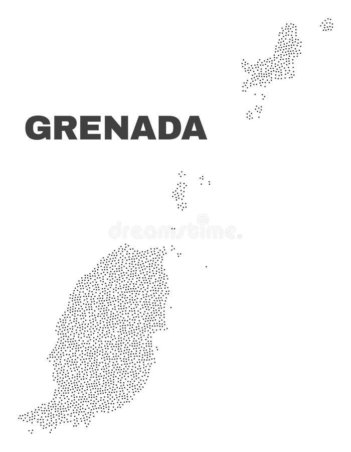 Vector Grenada Map of Dots stock illustration