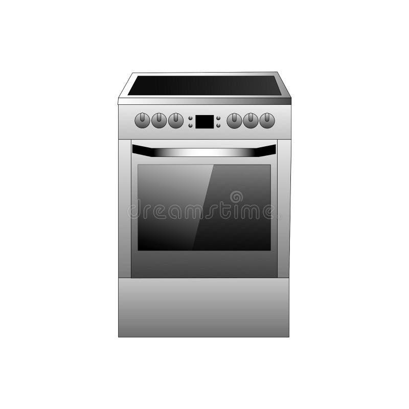 Vector kitchen range illustration on a white background vector illustration
