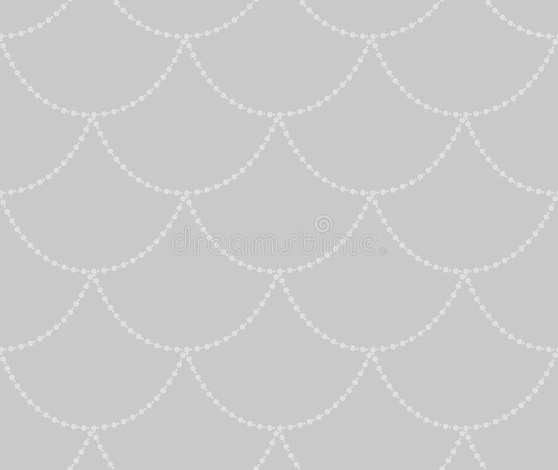Vector Grey Decorative Seamless Pattern stock de ilustración