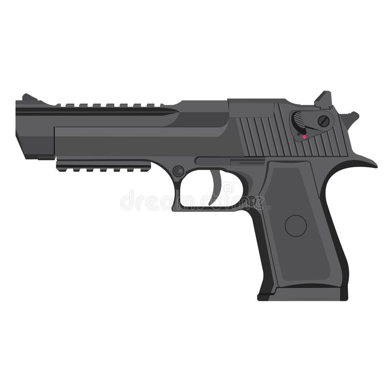 Vector grey handgun stock photography