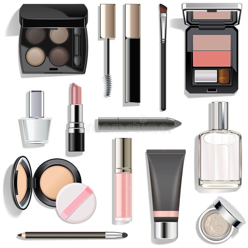 Vector Grey Makeup Collection royalty free stock photos