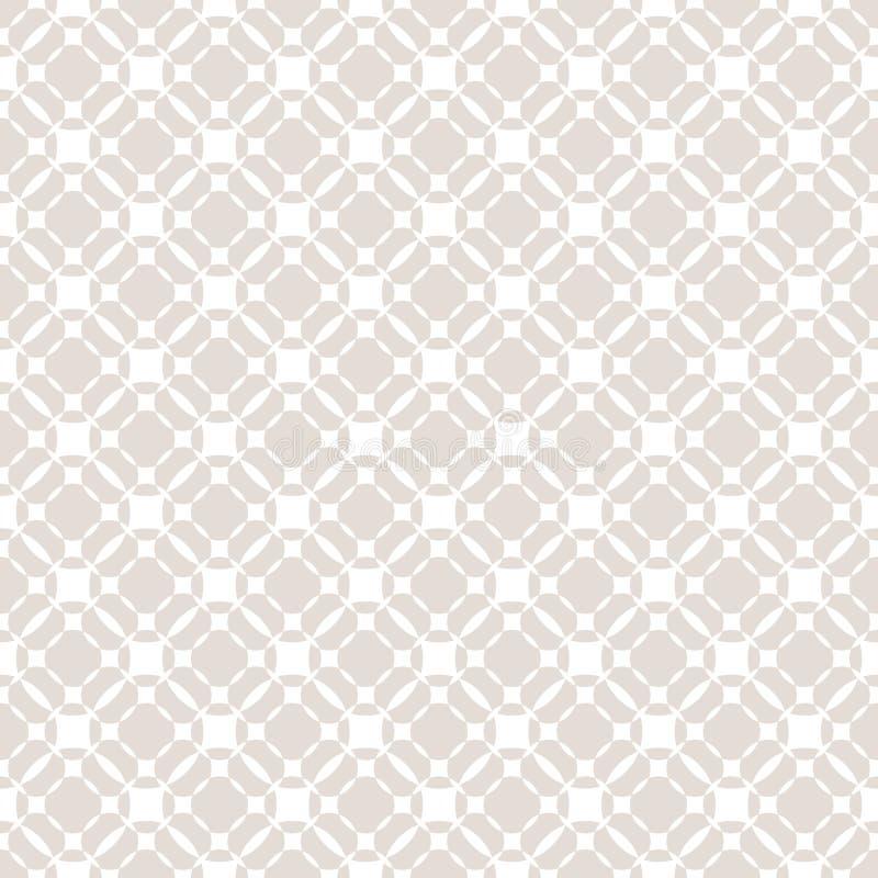 Vector grid seamless pattern. Subtle pastel geometric texture. royalty free illustration