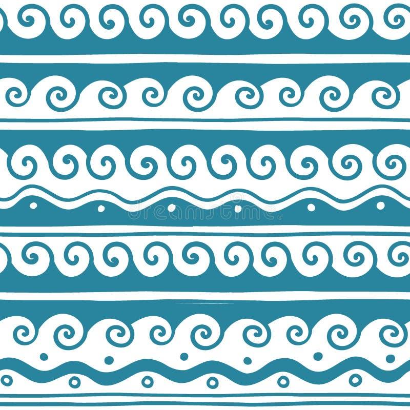 Vector Griekse golf en meander decoratieve geplaatste elementen stock foto