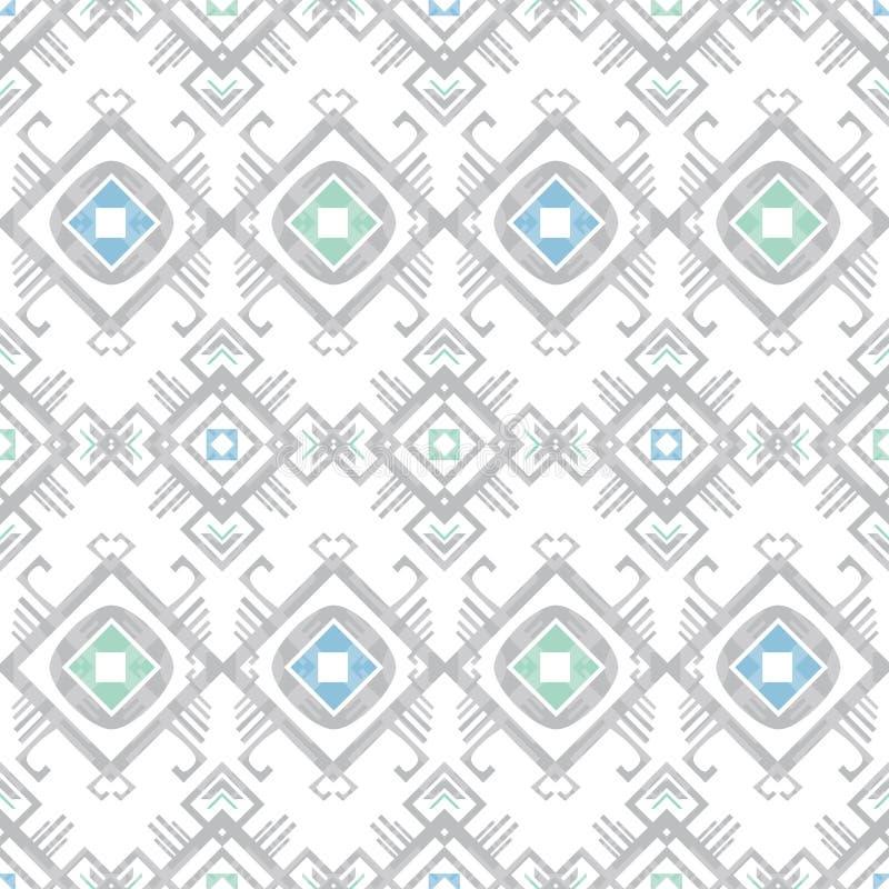Vector grijs blauw stammen geometrisch naadloos patroon stock illustratie