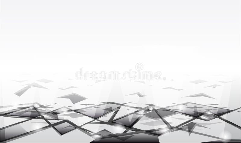 Vector grijze achtergrond royalty-vrije illustratie