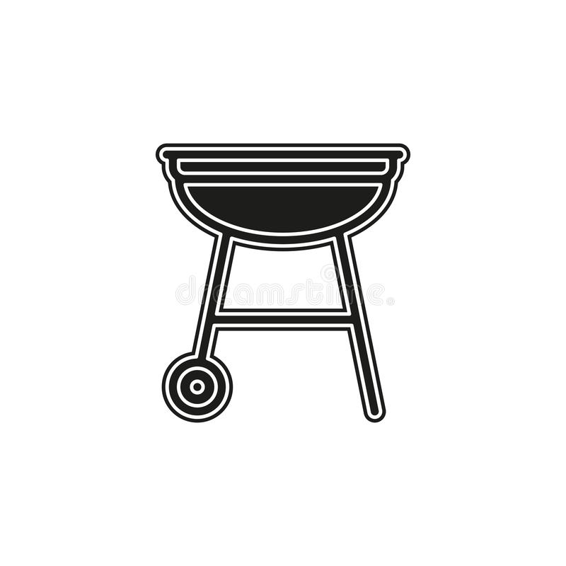 Vector grill bbq menu icon, cooking meat - hot food steak symbol, picnic sign. Flat pictogram - simple icon stock illustration