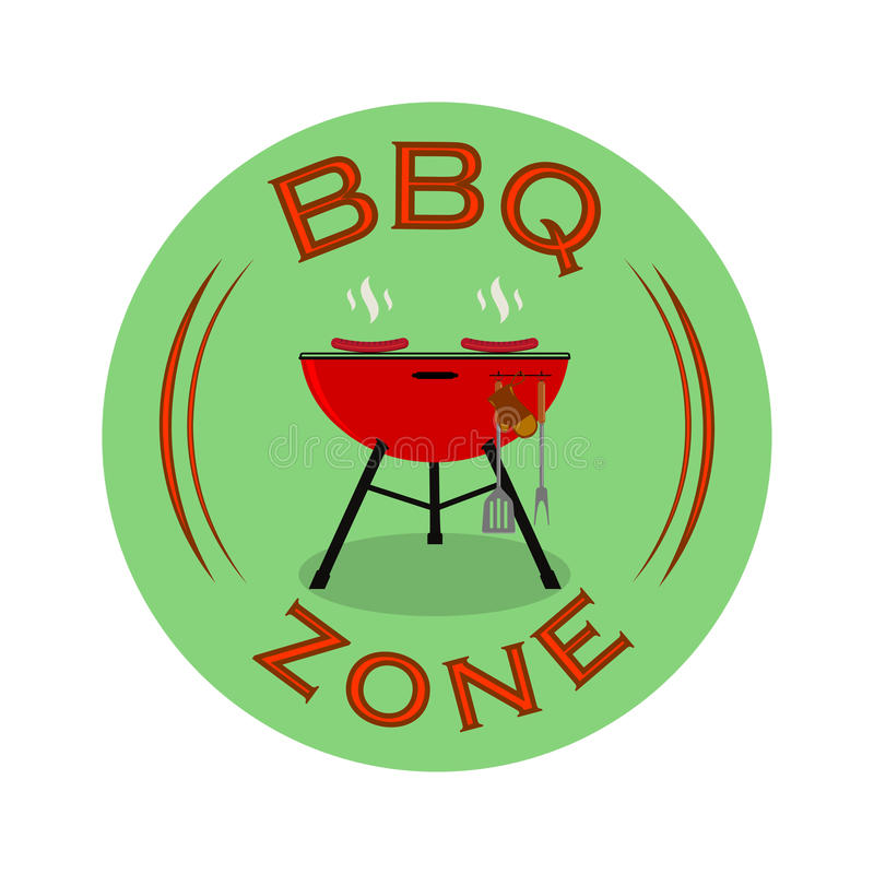 Vector Grillzonen- oder BBQ-Ruhezonezeichendesign lizenzfreie abbildung