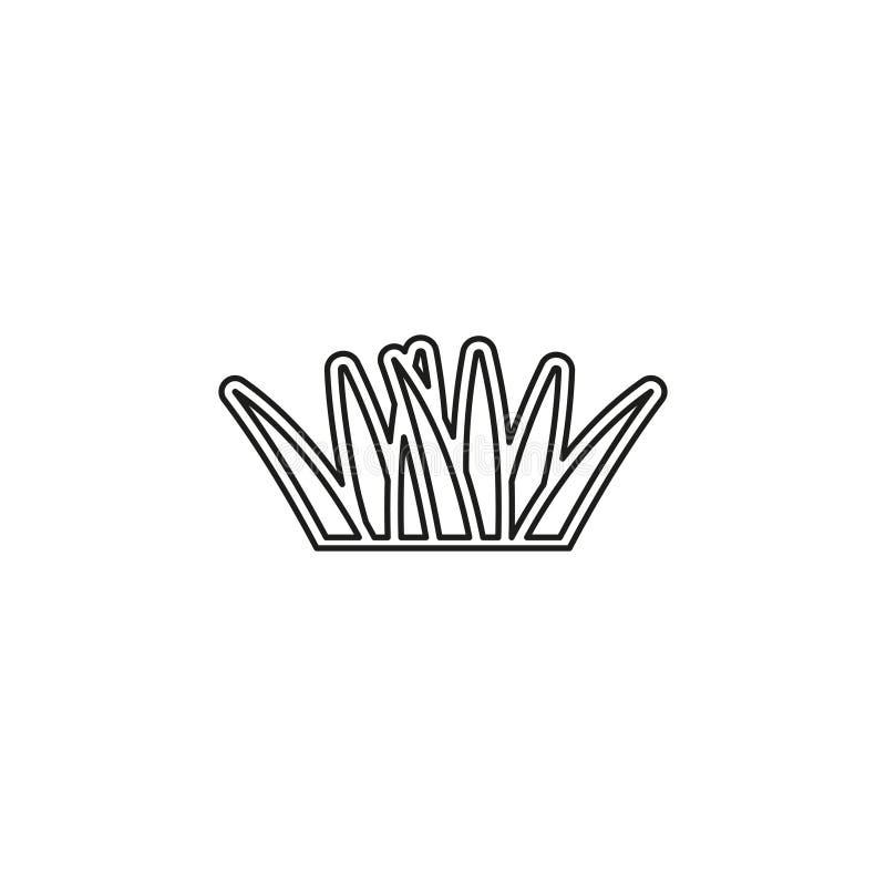 Vector groene ge?soleerde grasillustratie royalty-vrije illustratie