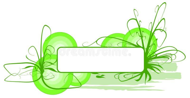 Vector groene grasbanner