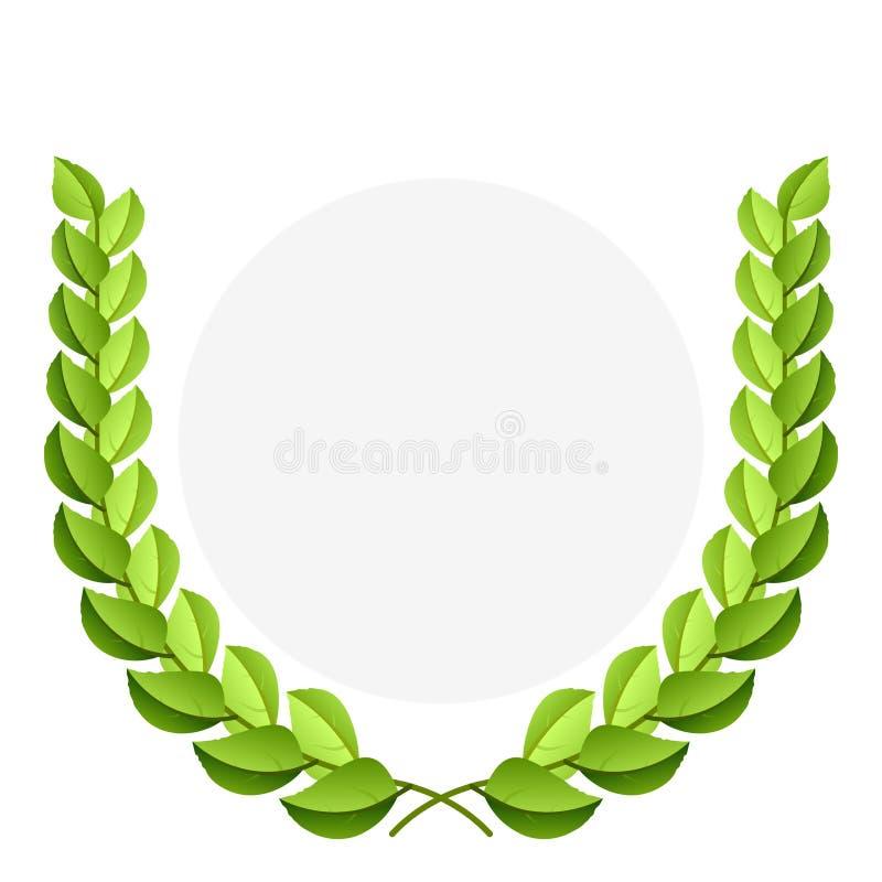 Vector groene lauwerkrans royalty-vrije illustratie