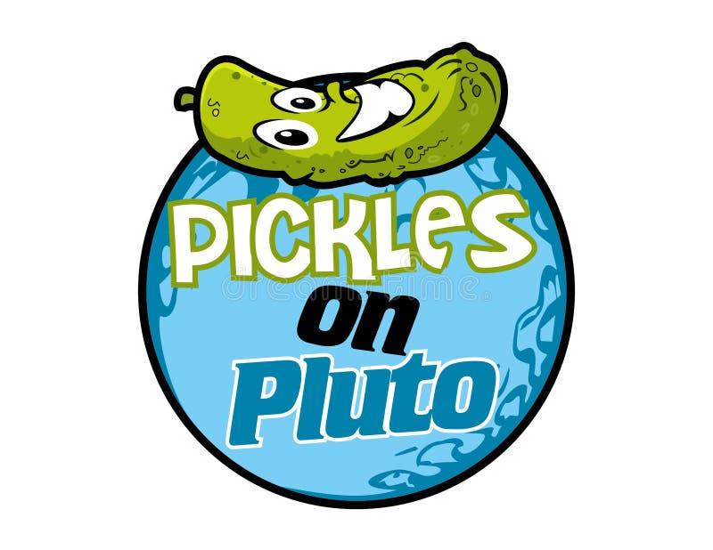 Vector - groenten in het zuur op pluto royalty-vrije illustratie