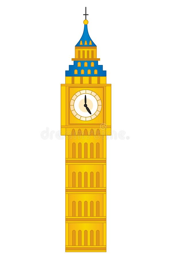 Vector Groot Ben Tower Vectorlonden Big Ben vector illustratie
