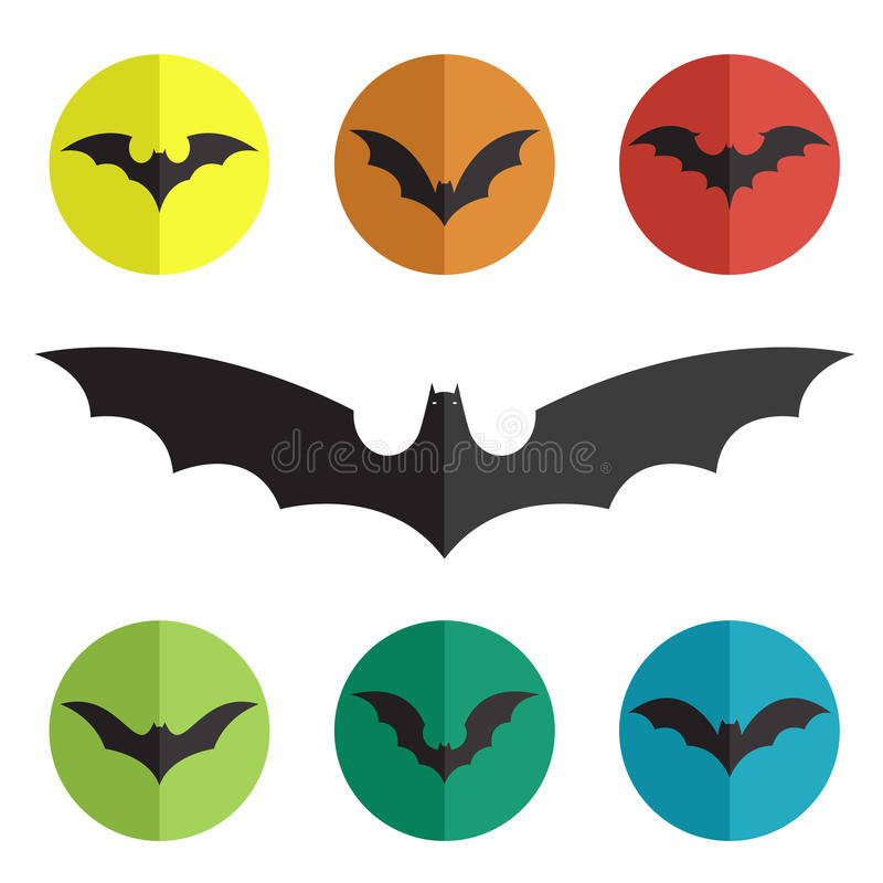 Vector group of bat. On white background royalty free illustration