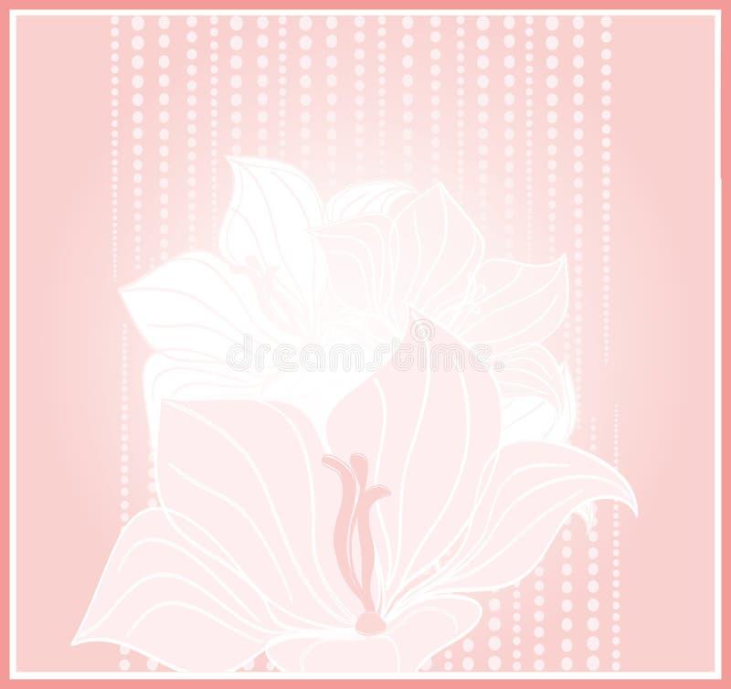 Vector Grußkarte mit Latten - zacken Sie Blumen aus lizenzfreie abbildung