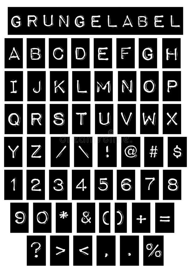 Download Grunge Label Font stock vector. Illustration of grunge - 30052232