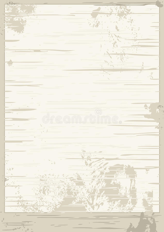 Vector grunge background. Texture old, soiled paper royalty free illustration