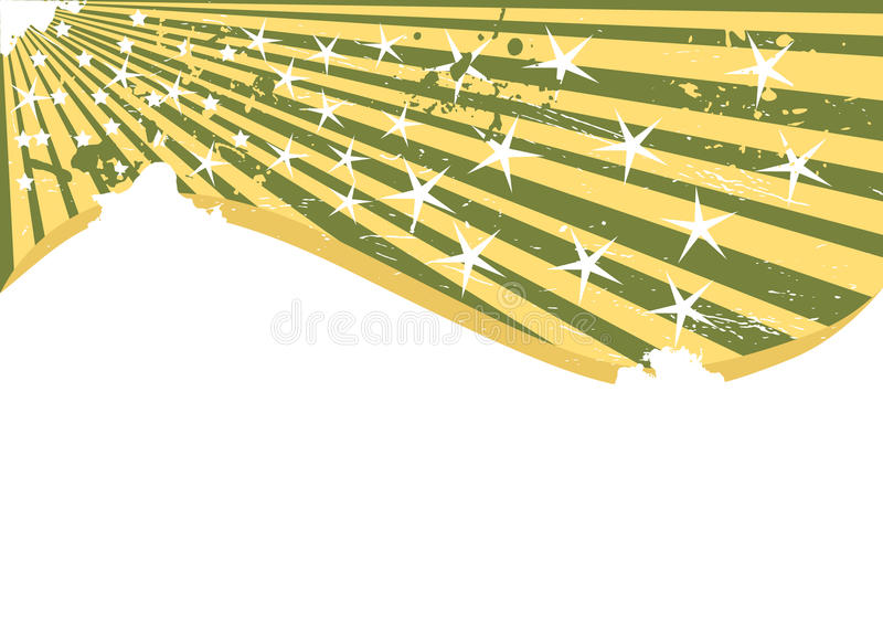 Vector grunge background with few star stock images