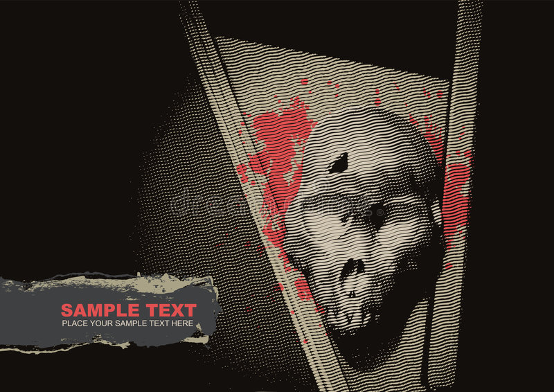Vector grunge background with a skeleton vector illustration