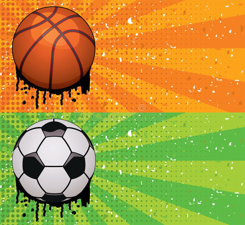 Download Vector Grunge Basketball And Soccer Backgrounds Stock Vector - Image: 25045638
