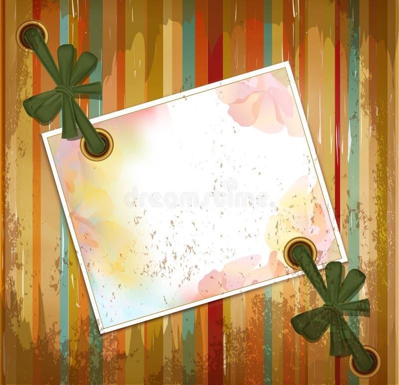 Vector grunge bloemenkaart als achtergrond stock illustratie